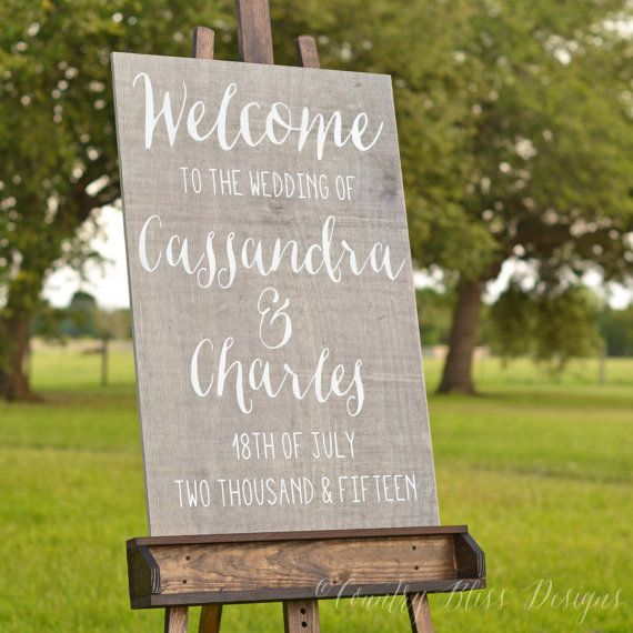 Welcome to the Wedding of Welcome Wedding by countryblissdesigns