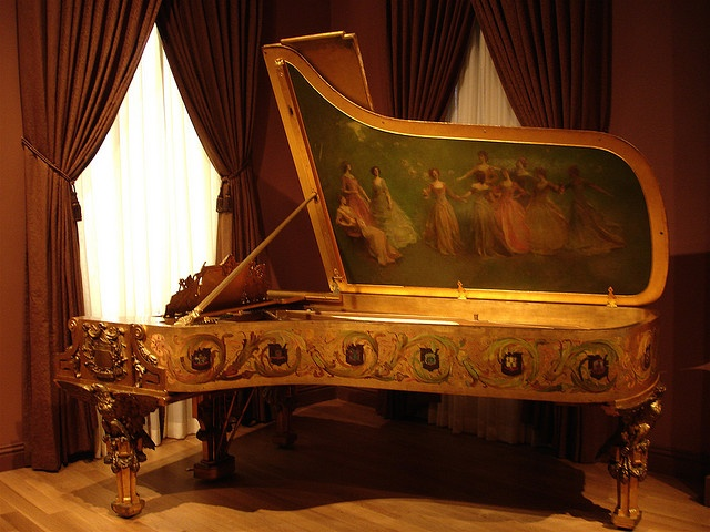 Lady Catherine would be quite proficient, just ask her...  piano- regency era.