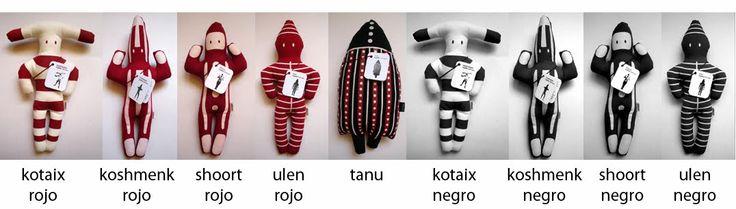 Los Onitas. Chile. Muñecos de género pintados, inspirados en los espíritus Selk'nam, más conocidos como Onas.