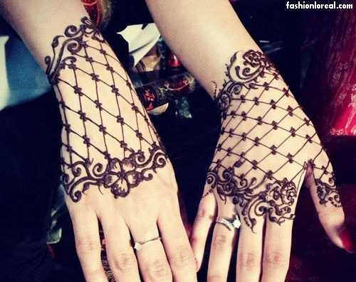Mehndi Lace Tattoo : Best simple mehndi designs that you can try at home images