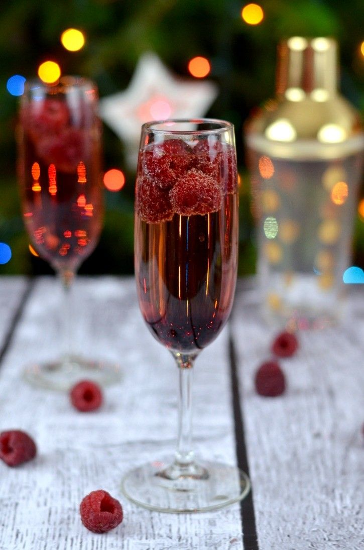 This Raspberry, Chambord & Champagne cocktail is perfect for New Years Eve or any other party situation. A delicious cocktail to enjoy with friends and family.