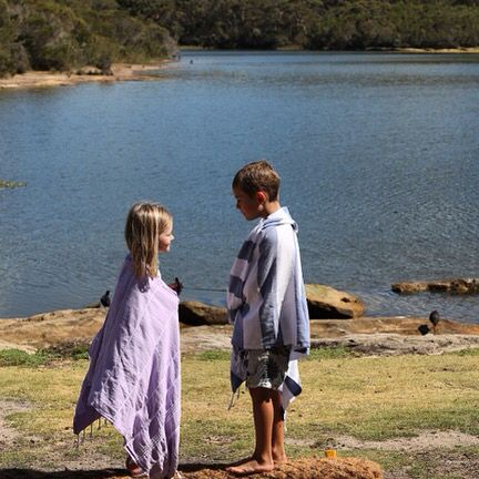 Brother & Sisterly love!  Maui and Noosa Turkish towels from www.belindapeet.com.au