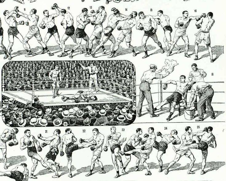 1933 Combat de Boxe Boxeur Ring Planche Originale Larousse Illustration Sport décor vintage de la boutique sofrenchvintage sur Etsy