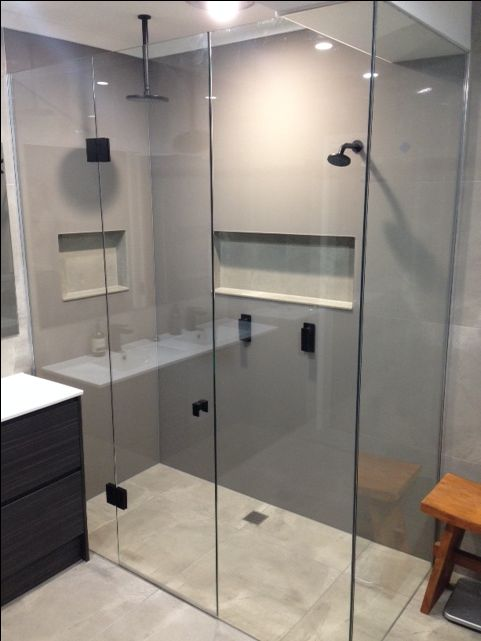 Floor to ceiling colourback acrylic splashbacks by Innovative Splashbacks® in a…