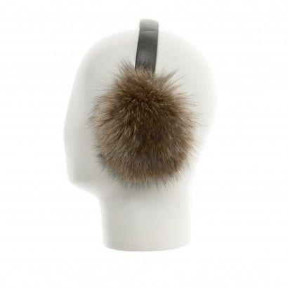 Siut Recycled Fur Earmuffs - Raccoon
