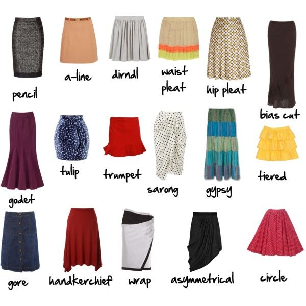 Skirt glossary, created by imogenl on Polyvore