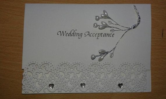 Hey, I found this really awesome Etsy listing at https://www.etsy.com/listing/230958341/diamonds-pearls-wedding-acceptance-card