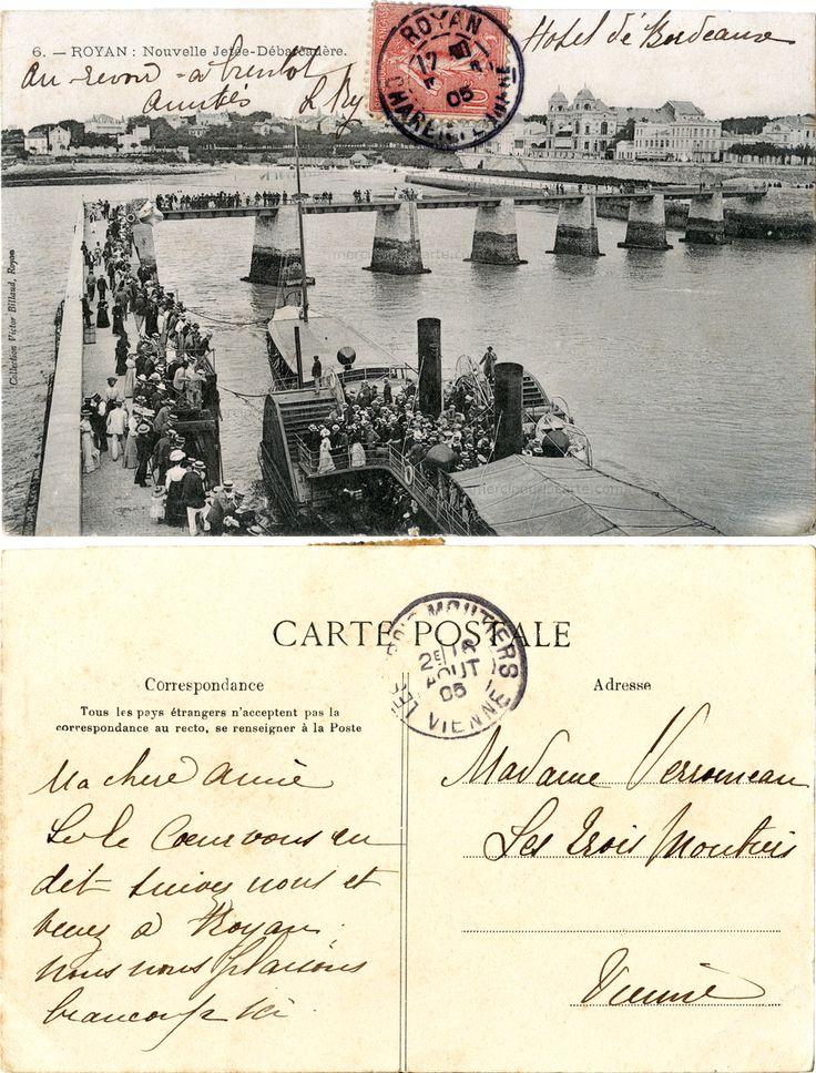 Royan - Nouvelle Jetée-Débarcadère - 1905 (from http://mercipourlacarte.com/picture?/2019/)