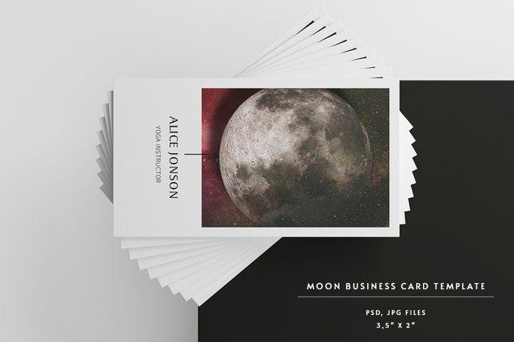 Moon Business Card 763367 Business Cards Design Bundles In 2021 Business Card Design Printing Business Cards Card Design
