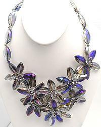 Handmade Genuine Crystal V Necklace