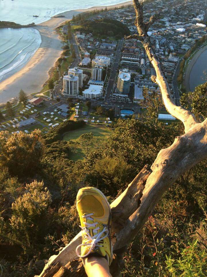 Mt Maunganui from top of Mt