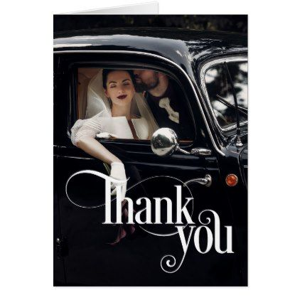 Thank You Photo Overlay Desire Card - classic gifts gift ideas diy custom unique