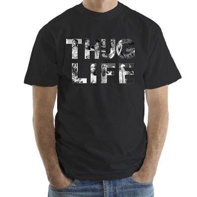 2Pac THUG LIFE мъжка тениска Stedman с къс ръкав