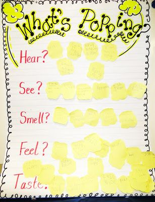 """""""Poppin' with Sensory Details"""" / The Five Senses of Popcorn"""