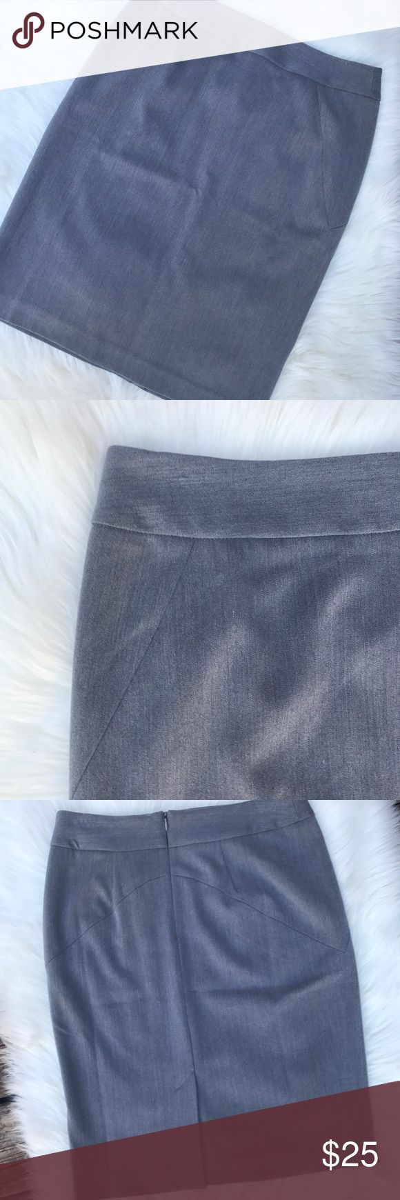 💖 Grace Elements Gray Pencil Skirt 4 Practically brand new. I'm not sure I even wore this once. Grace Elements Skirts Pencil