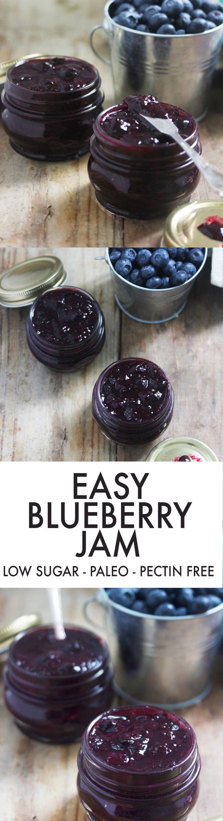 Easy Blueberry Jam {Low-sugar, pectin-free} | Lexi's Clean Kitchen