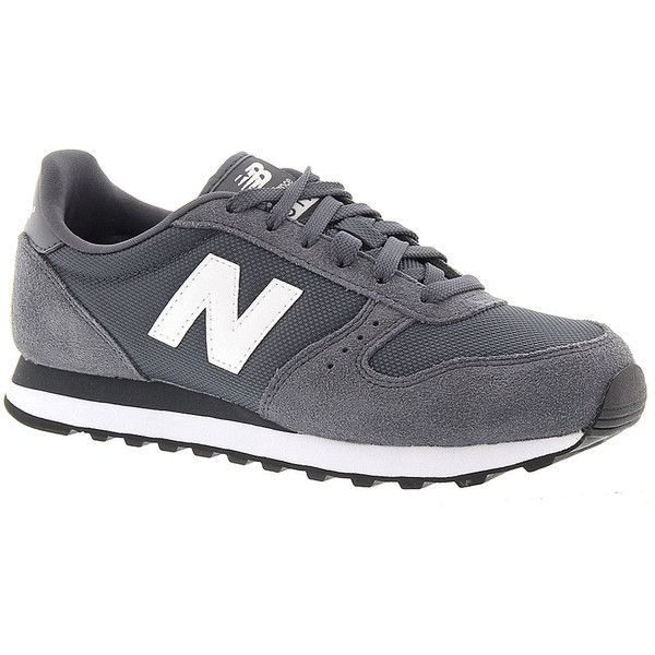 New Balance 311 (€46) ❤ liked on Polyvore featuring shoes, athletic shoes, grey, sports shoes, walking shoes, gray shoes, athletic running shoes and grey running shoes