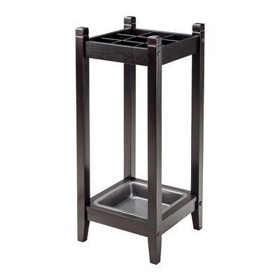 Winsome Wood 92411 Jana Umbrella Stand with Metal Drip Tray