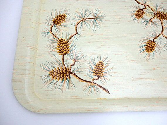 Hey, I found this really awesome Etsy listing at https://www.etsy.com/listing/197212981/vintage-metal-trays-pine-cone-set-of-2