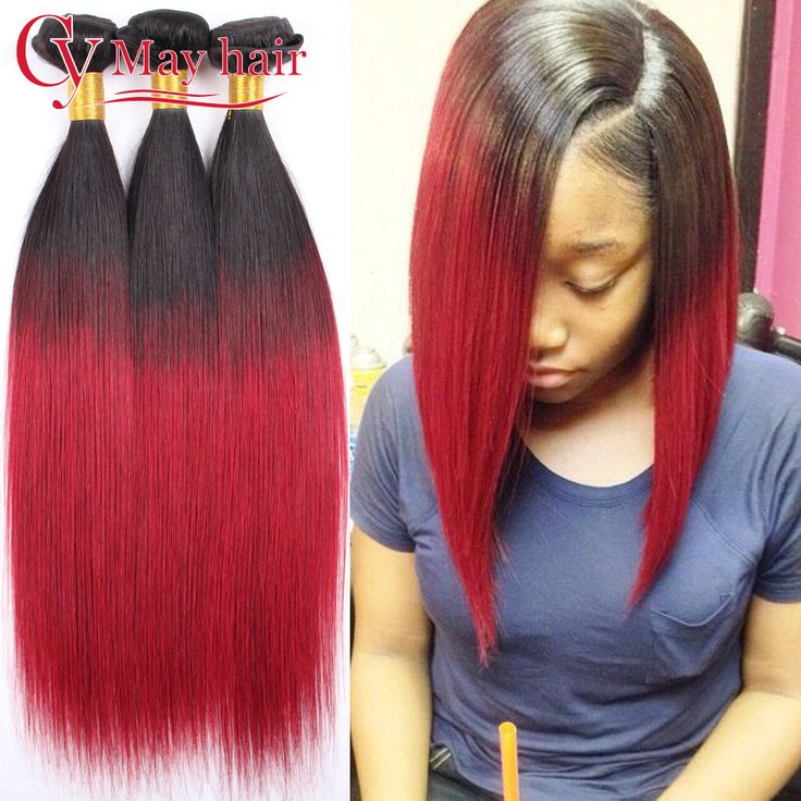 Cheap Human Hair Extensions, Buy Directly from China Suppliers: Ombre Brazilian Hair 3 Bundles Straight Weave 3pcs Burgundy Ombre Hum
