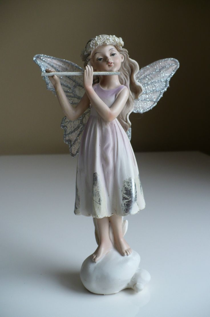 New Fairy Harmony 7 in Playing Flute Faerie Fairies Figurine Standing Musical | eBay