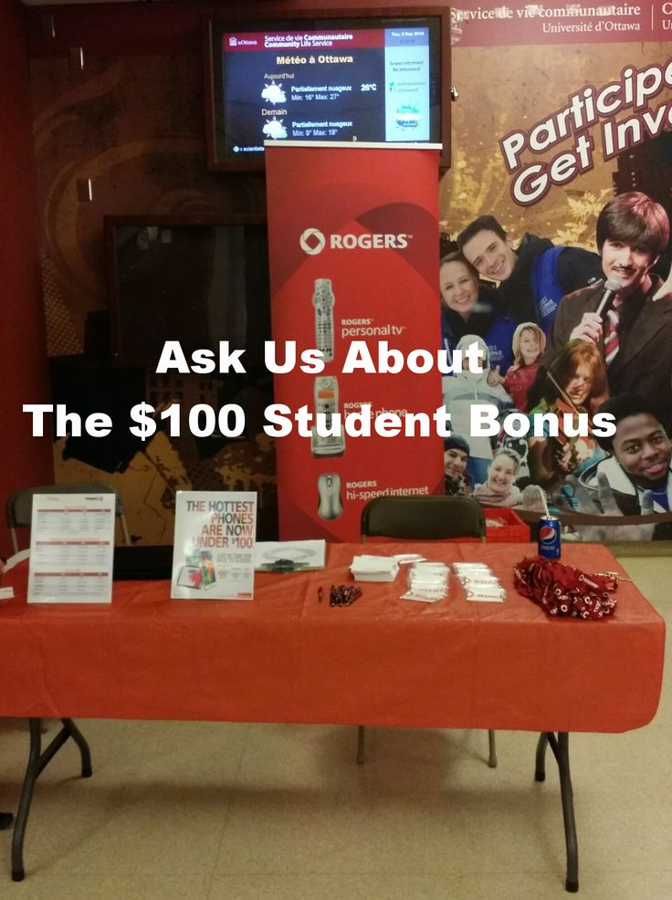 We're @uOttawa all week. Come visit our booth by the Student Federation office and ask about our $100 Student Offer! ;)