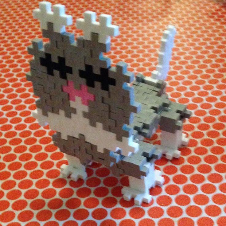 "Here's a great fan creation - ""Snowball the Husky"" by Simon age 8. Thank you! #plusplus #plusplustoy #danishdesign #creativeplay #husky"
