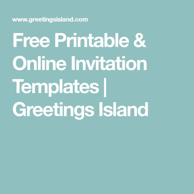 online invite templates