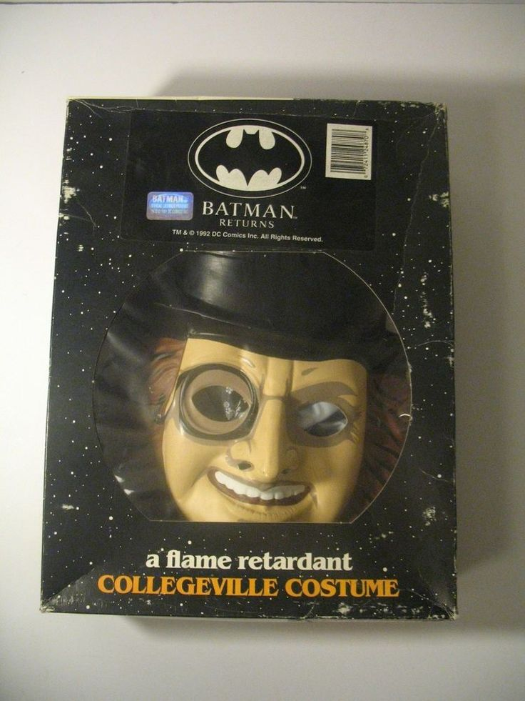RARE Vintage Penguin COLLEGEVILLE Batman Halloween Costume Size SMALL in BOX
