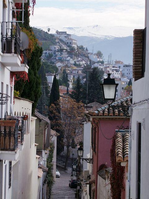 Granada, Spain,Barránco del Abogado desde el Plegadero Alto