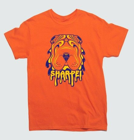 Psychedelic Shar Pei T-Shirt