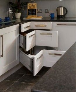 Small Kitchen Organizing Ideas | Click Pic for 20 DIY Kitchen Organization Ideas Corner Drawers