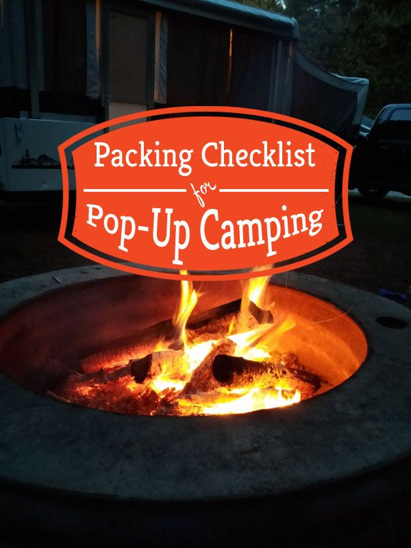 One of my best camping tips is to make a checklist of everything you need to bring, so you don't forget anything. This is my camping checklist for pop up camping. You don't want to forget the first item listed under clothing for sure! Has a free printable checklist you can use.