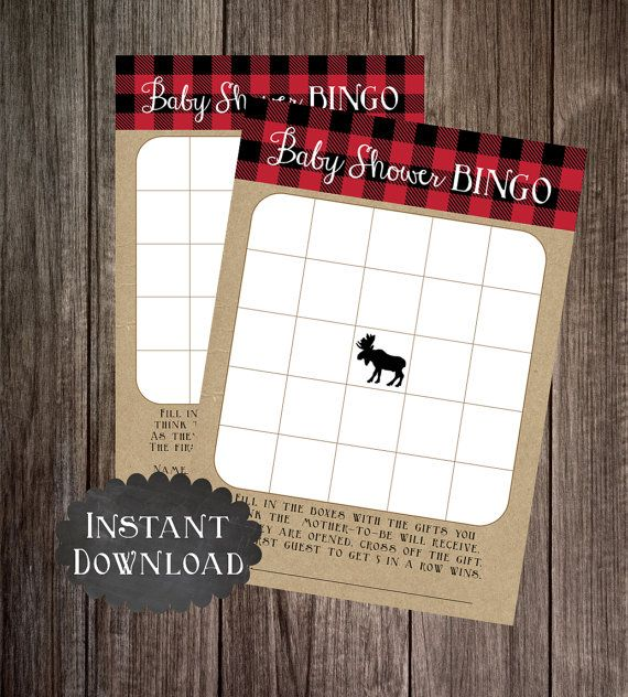 Printable Moose Baby Shower Game Package by PoppinPaperParties