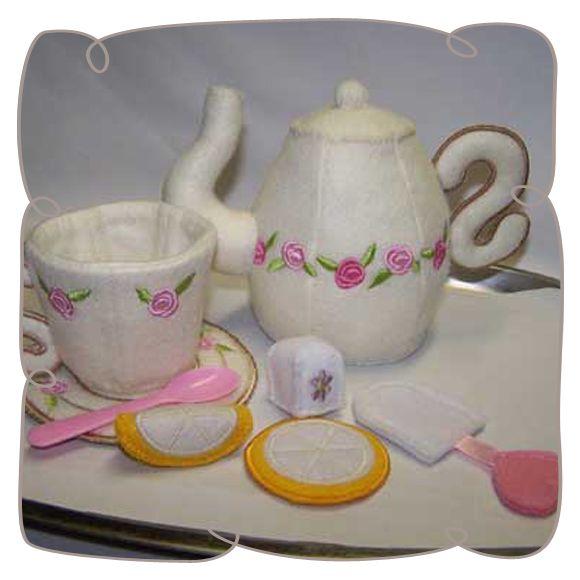 Little Lady Teaset: Embroidershoppe