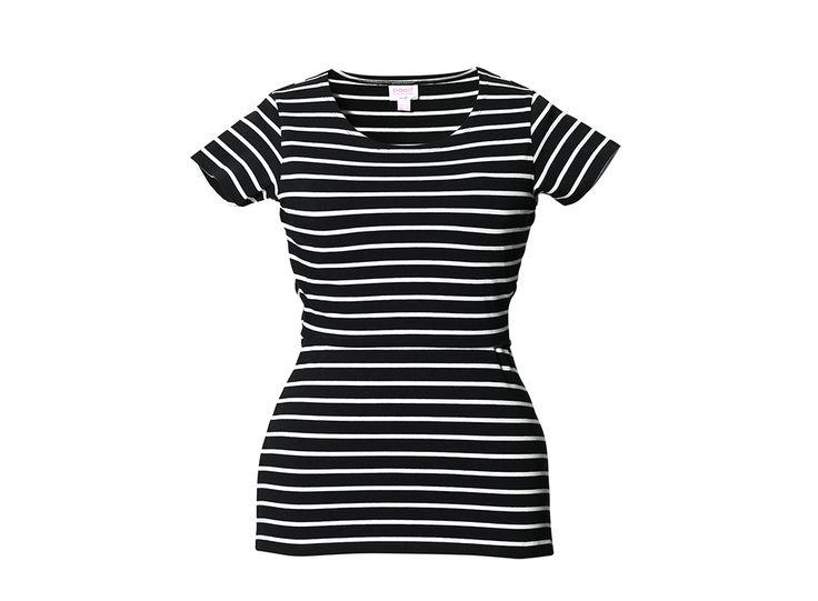 Boob Kortärmad gravid/amningstop Simone black stripes | Bonti