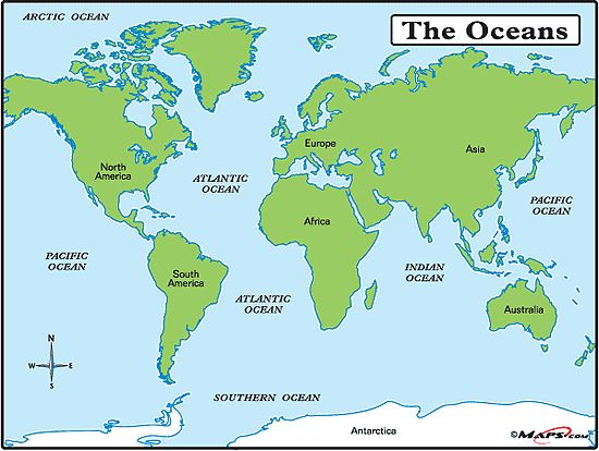 World map with oceans and seas my blog 2017 sciox Choice Image