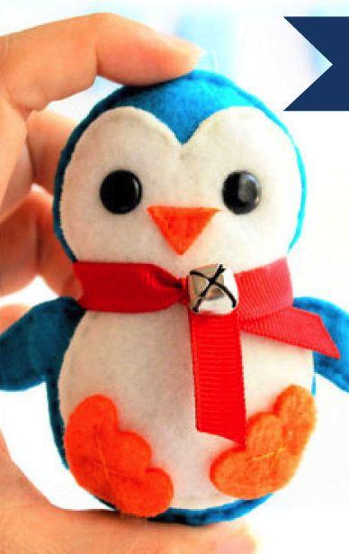baby penguin pattern #ornament