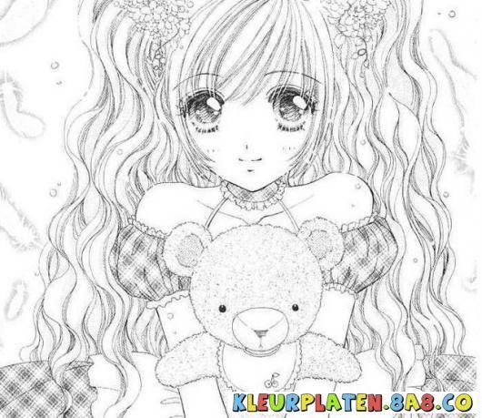 manga meisjes kleurplaten | Kleurplaten anime manga meisje | KLEURPLATEN ANIME | Kleurplaten en ...
