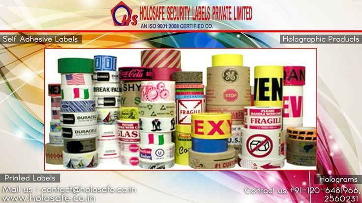 The customer can choose the size/ shape/color of the #label thereby providing a   truly customized solution.