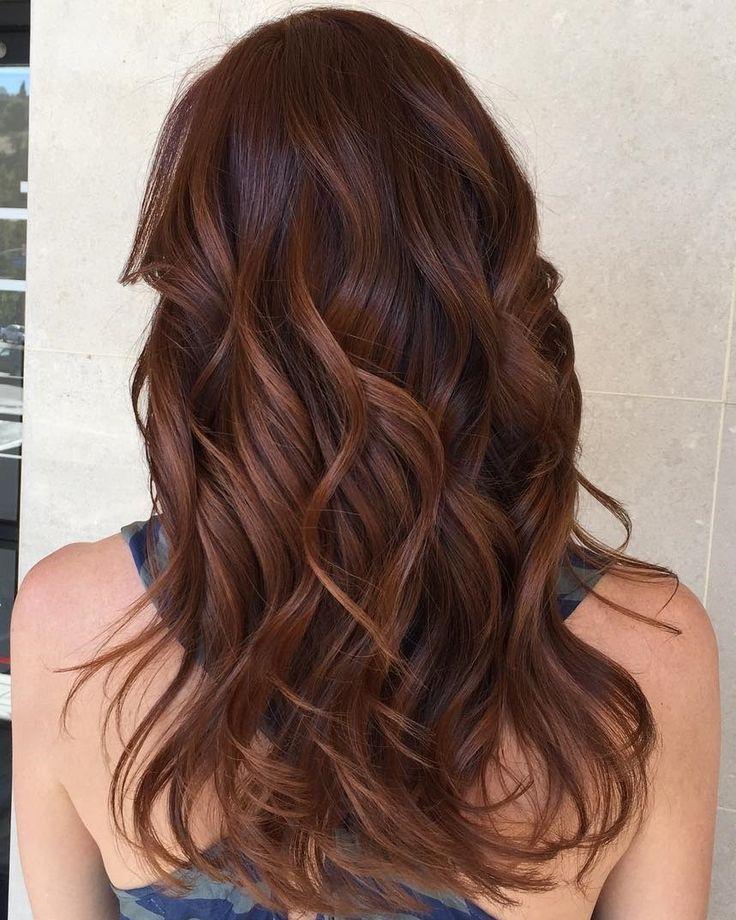reddish+brown+hair+with+caramel+highlights