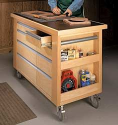 Roll-Around Work Cart