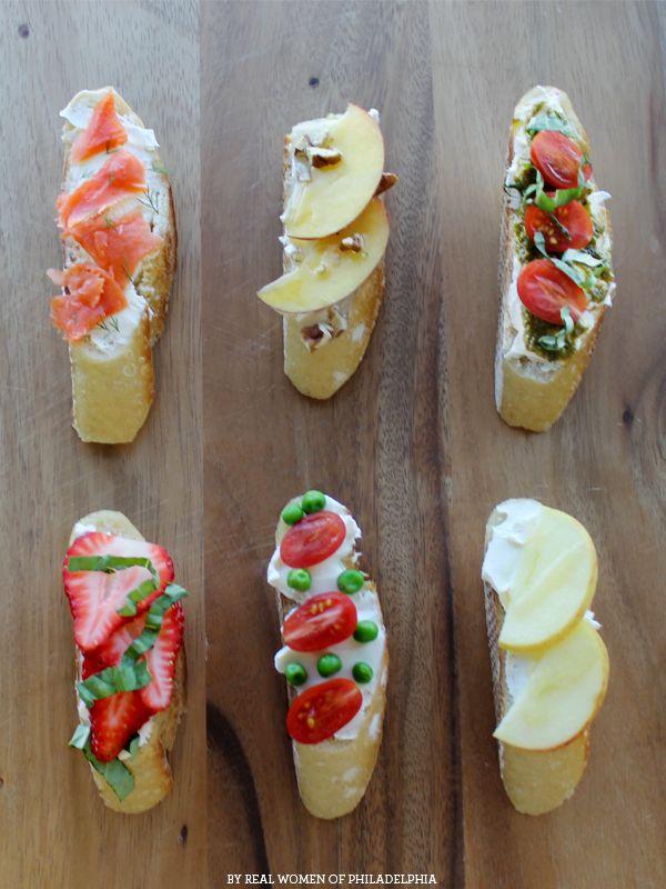 Six simple crostini recipes // #crostini #recipes
