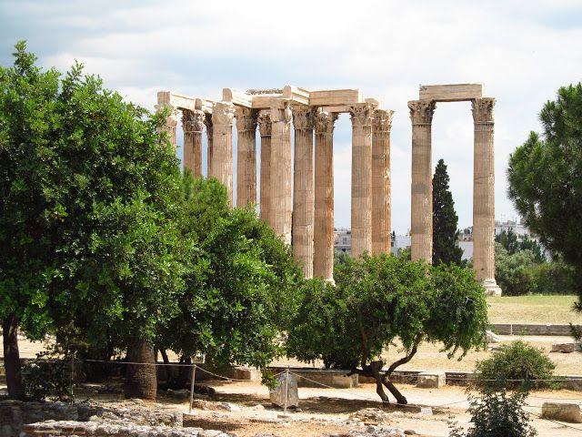Наш отдых в Греции. Пелопоннес, Патры. Храм Зевса в Афинах
