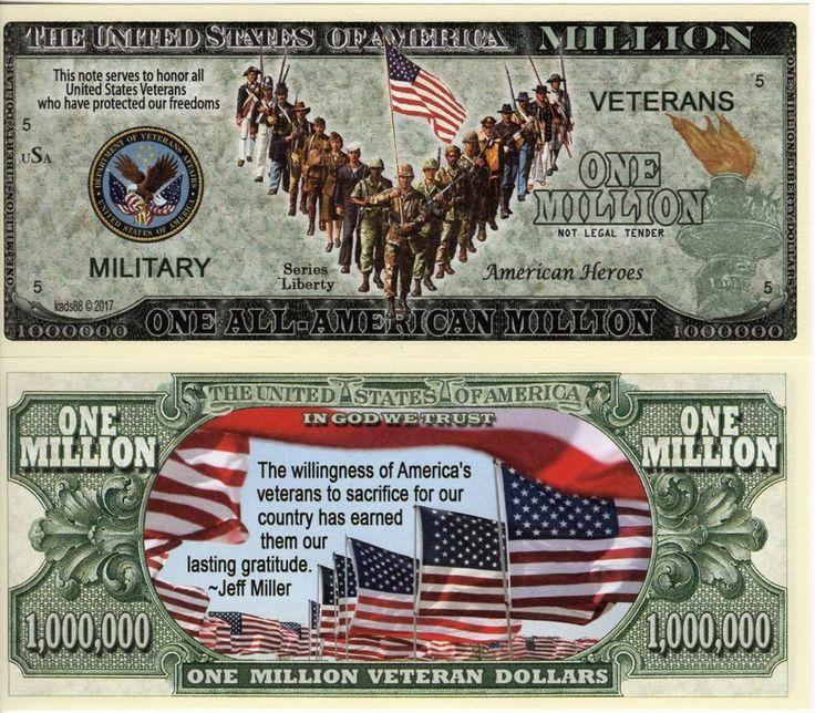 All American Veterans Million Dollar Bill