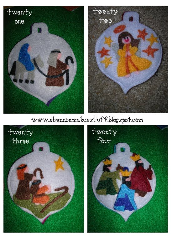 Shannon Makes Stuff: Felt Advent Calendar (includes some ornaments that would work for a Jesse Tree)