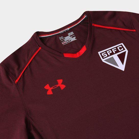 ef57ee7a1ac Camisa de Treino São Paulo 17 18 Under Armour Masculina - Bordô ...