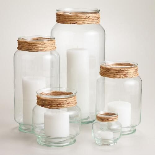 One of my favorite discoveries at WorldMarket.com: Glass Fiber-Wrapped Natale Hurricane Candleholder