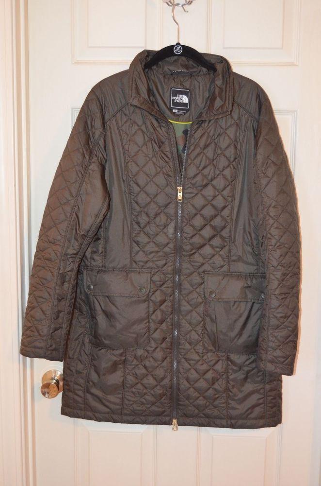 The North Face HYBRID Primaloft ladies Jacket Size Large Green EUC #TheNorthFace #Jacket