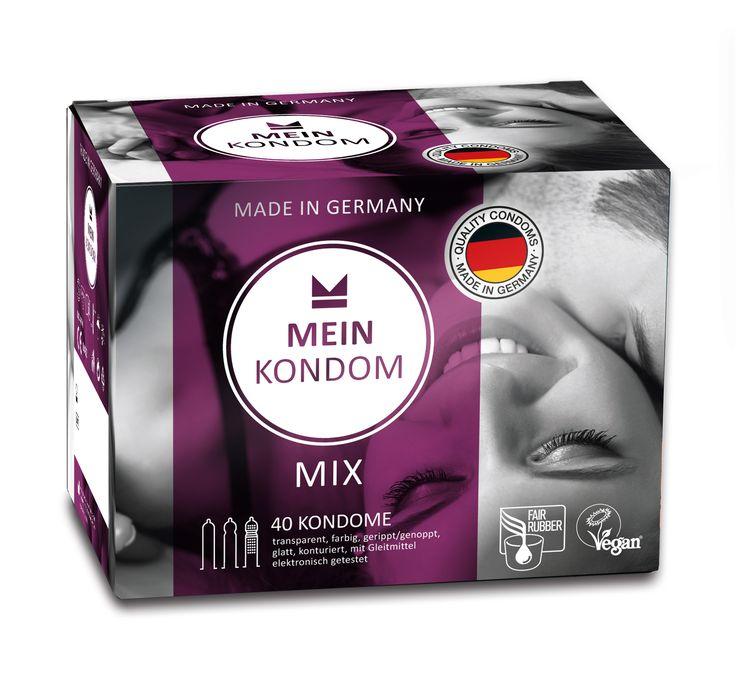 MEIN KONDOM Mix Kondome sind aus fair gehandeltem Latex und vegan - für noch mehr Spaß. MEIN KONDOM Kondome sind Made in Germany und stehen für höchste Qualität.